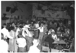 Brammar Neg 4036, Mayflower Cafe dance hall interior, Cheyenne Frontier Days, nd
