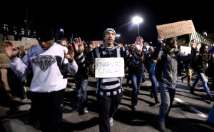 Protesters block highway 36 in Boulder, Colorado (Photo by the Daily Camera)