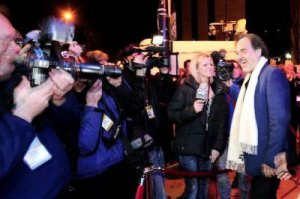 BCM crews interviewed Oliver Stone on the BIFF red carpet