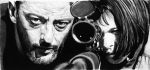 """Jean Reno reluctantly teaches young Natalie Portman the assassin trade in """"The Professional"""" (photo credit - fair use)"""