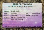 This is the medical marijuana card issued by the state of Colorado. The business is very regulated which is reassuring.