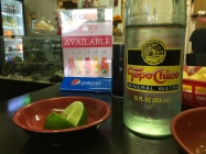 I stopped at this Tex Mex place in downtown Rawlins. I was impressed with the offering of TopoChico agua mineral.