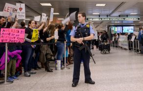 VA: Protesters gather at Dulles airport over immigration action