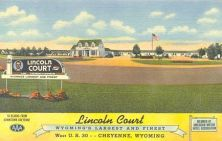 lincoln court old postcard
